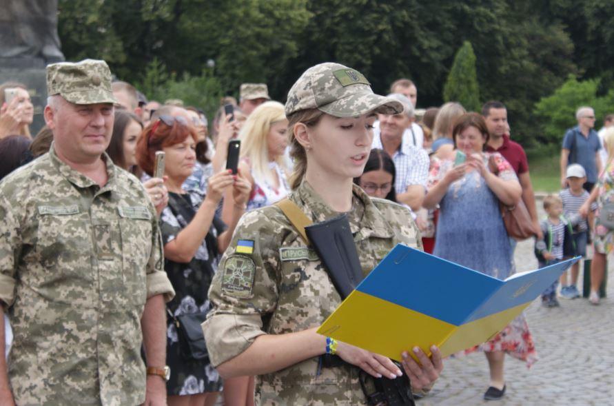 Складання присяги - військова кафедра УжНУ