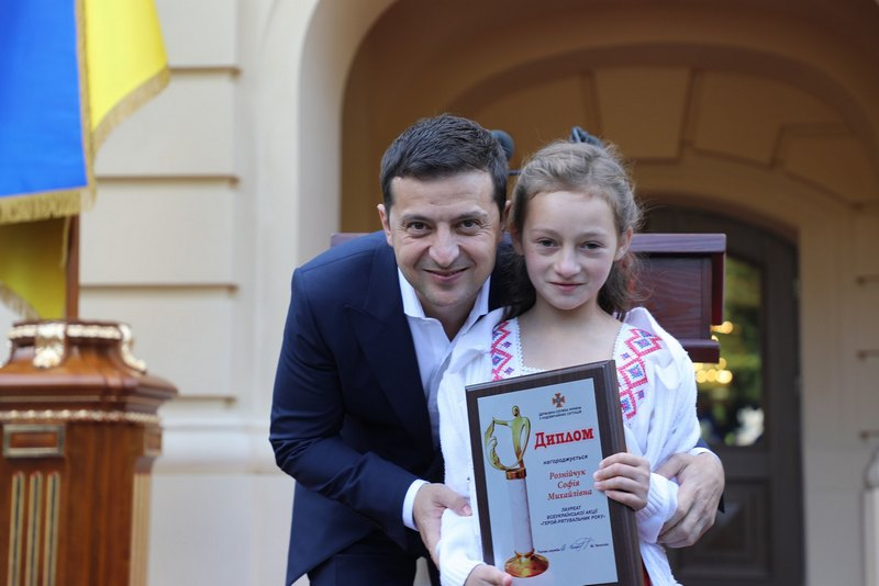 Володимир Зеленський і Софійка Рознійчук