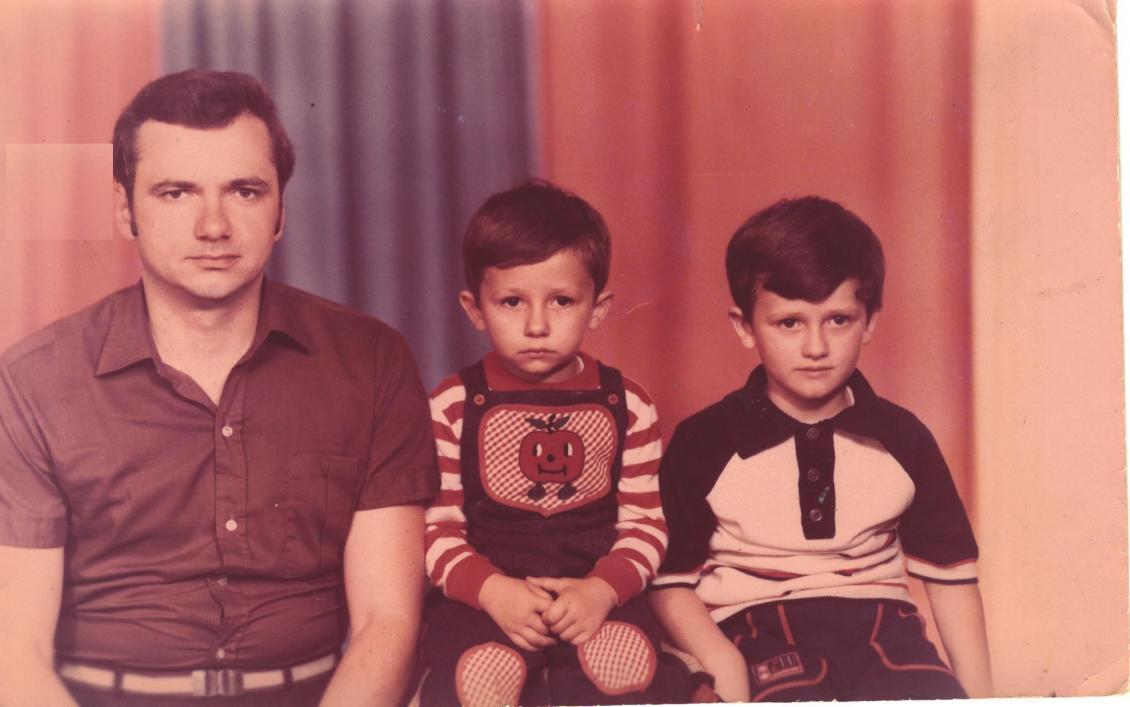 Із синами Олександром та Владиславом