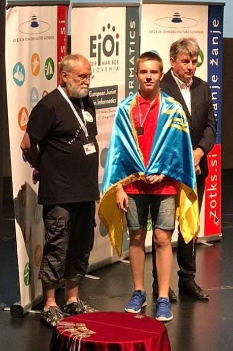 Олег Навер - минулорічний срібний призер і цьогорічний переможець Європейської юніорської олімпіади