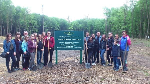 Студенти МДУ посадили гектар дубового лісу