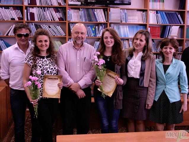 Студенти і викладачі УжНУ з Андрієм Курковим
