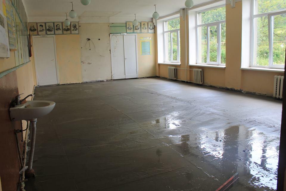 Ремонт у Хижанській загальноосвітній школі на Виноградівщині