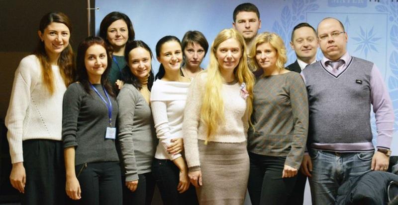 Мирослава Лендьел із колегами у Вінниці