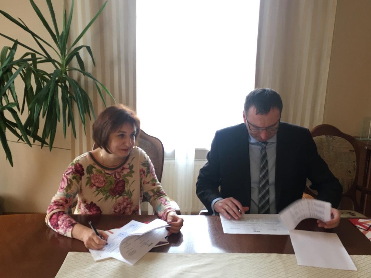 Тетяна Щербан. Підписання угоди між МДУ та польським вишем