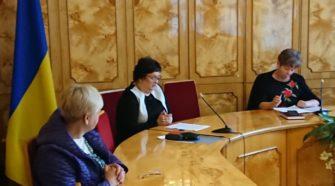Ганна Сопкова. Нарада з відповідальними за підручники в ОДА